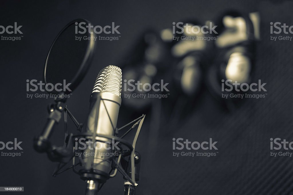 Recording studio series:  microphone stock photo