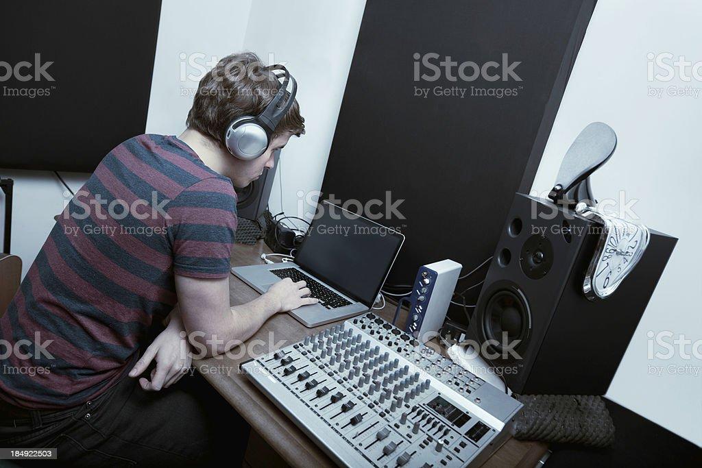 Recording studio series: music production royalty-free stock photo
