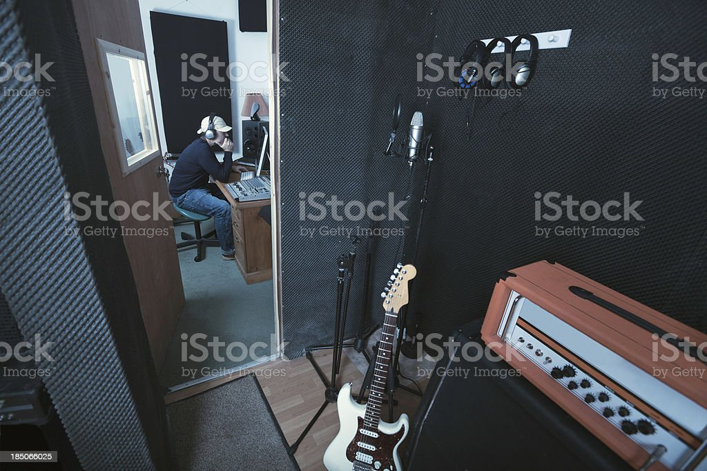 Recording studio series stock photo