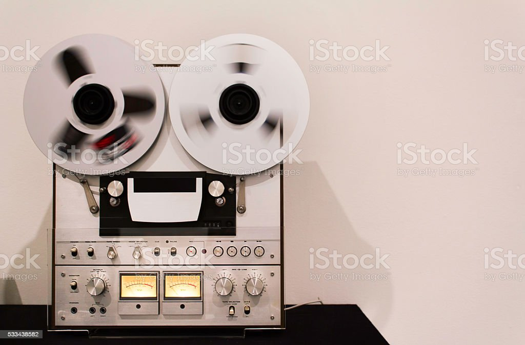 Recording tape stock photo
