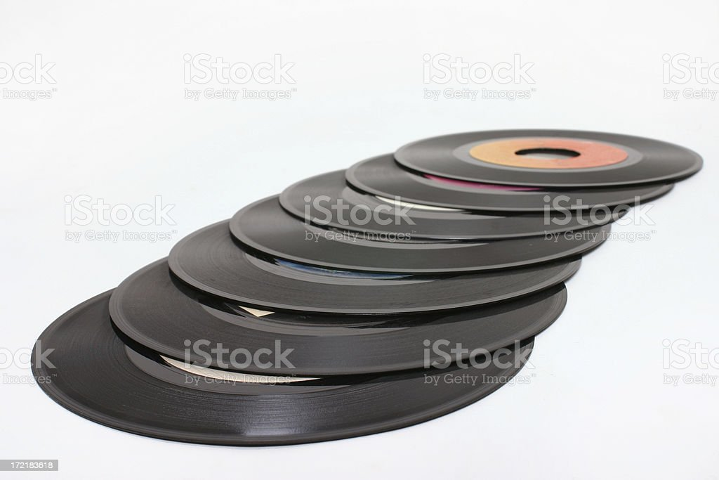 Records 3 royalty-free stock photo