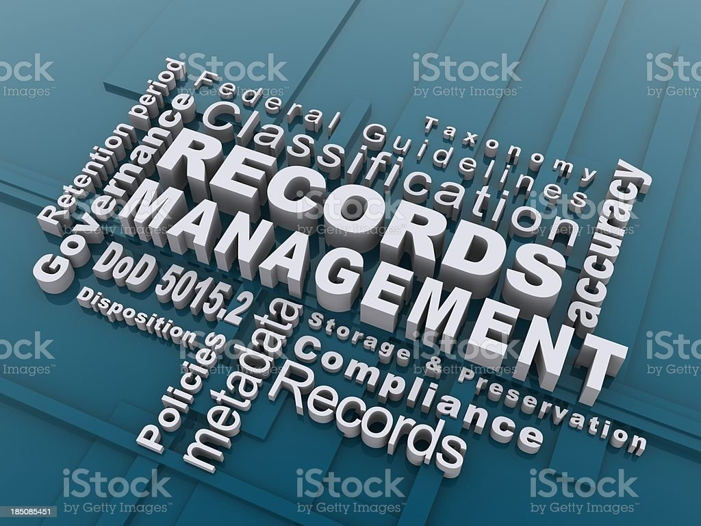 records management royalty-free stock photo