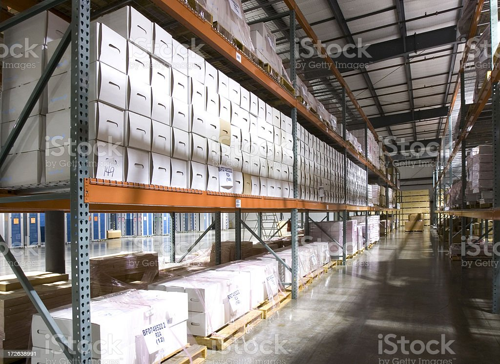 Records Retention Warehouse royalty-free stock photo