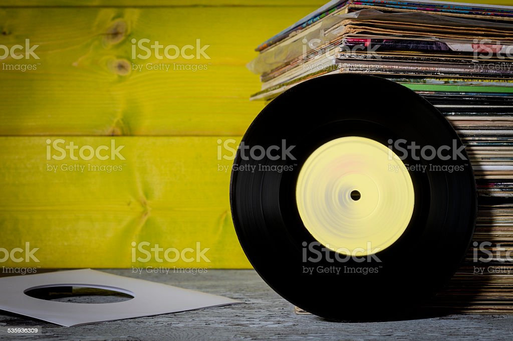 Records Stacked royalty-free stock photo