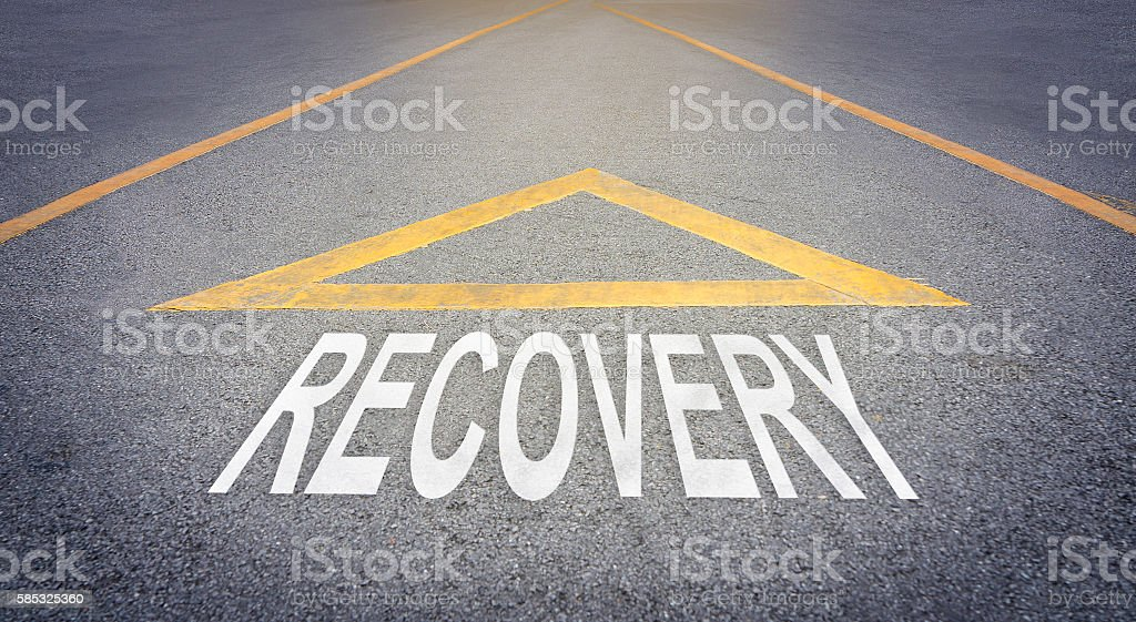 Recover direction on rough road. stock photo