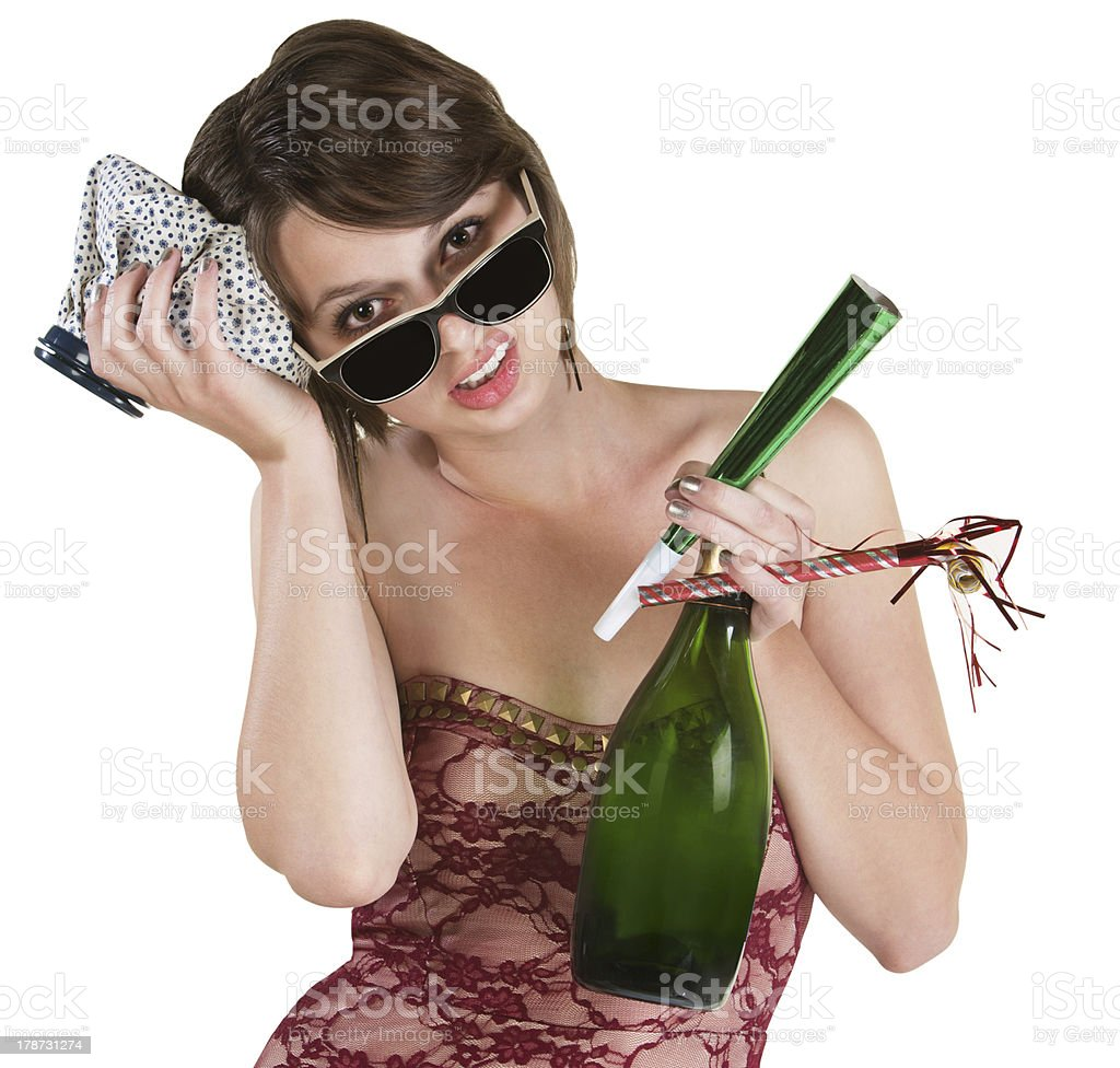 Recovering Party Girl stock photo