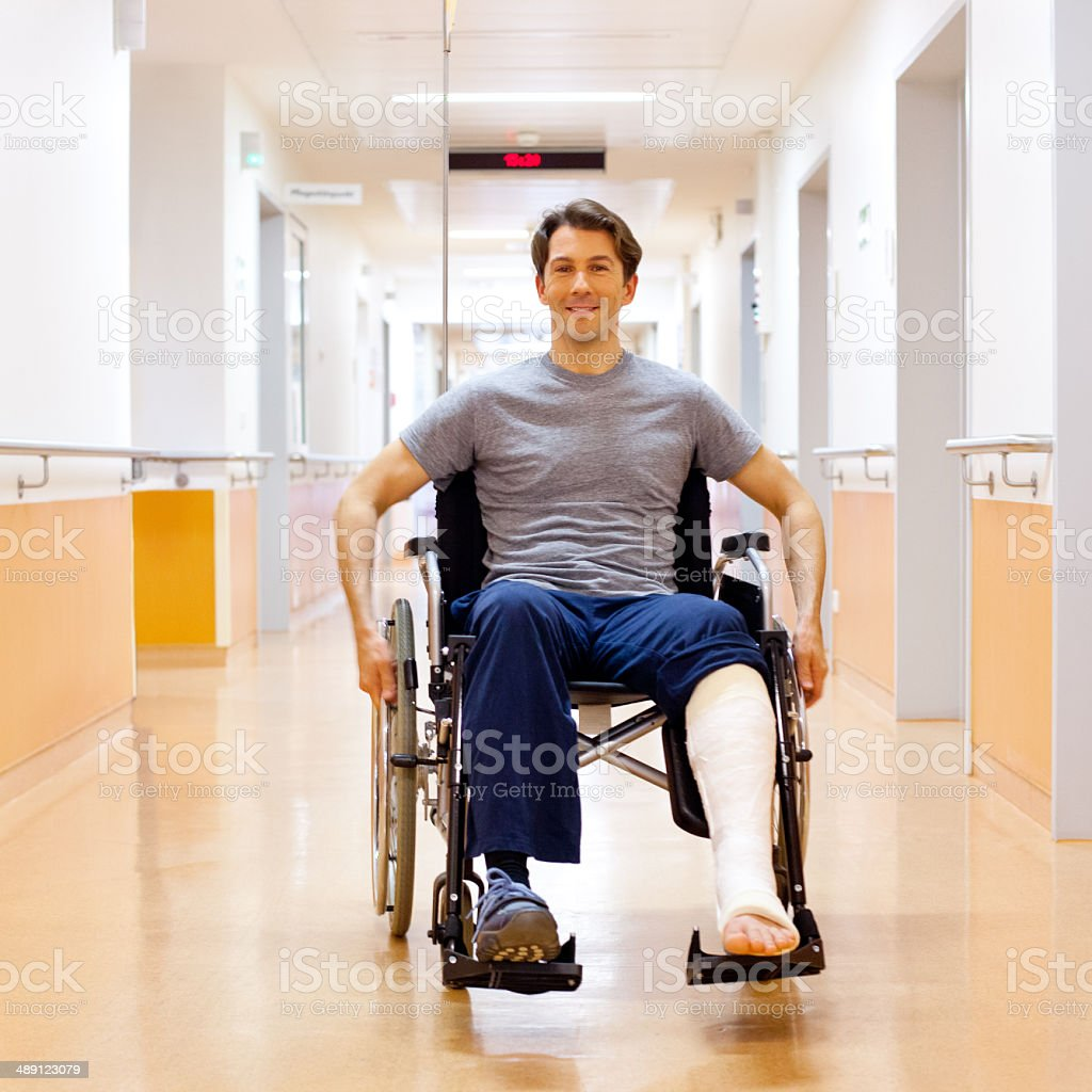 Recovering patient stock photo