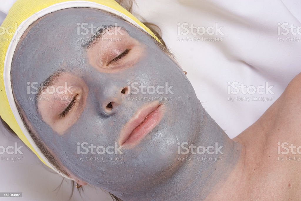 Recovery and facial of the woman royalty-free stock photo
