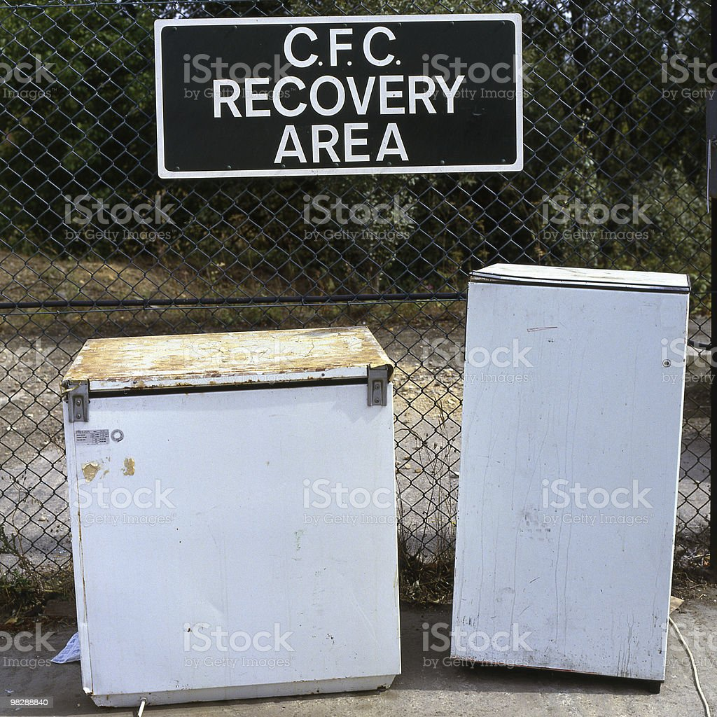 CFC recovery area at dump royalty-free stock photo