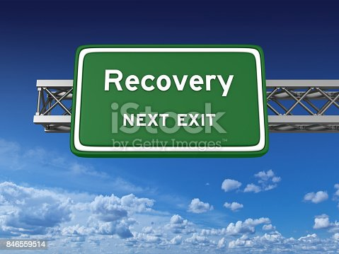istock Recovery Concept Highway Sign 846559514
