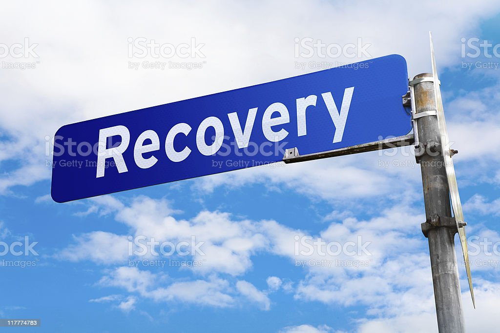 Recovery Road Sign royalty-free stock photo
