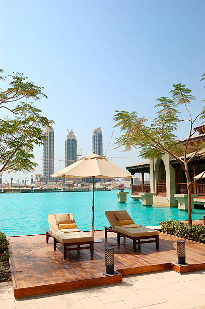 Erholungsgebiet im Luxushotel in der Innenstadt von Dubai, VAE – Foto