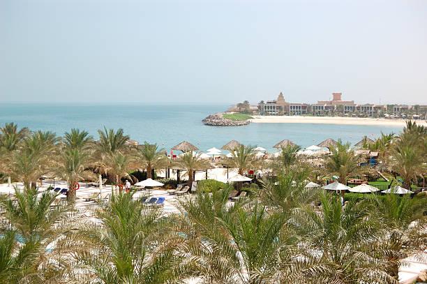 Erholungsgebiet von hotel und Strand mit Luxus-Villen – Foto