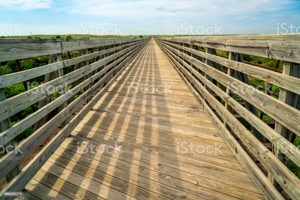 recreational Cowboy Trail in northern Nebraska royalty-free stock photo