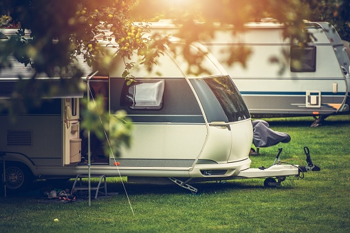 Recreational Vehicle Camping Stock Photo - Download Image Now