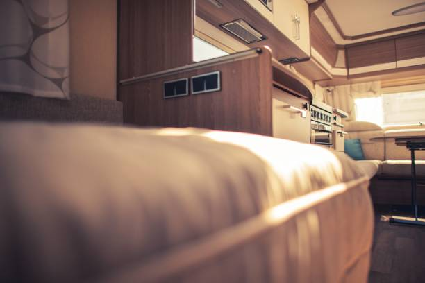 Recreational Vehicle Interior Recreational Vehicle Elegant Interior. Camping Theme. rv interior stock pictures, royalty-free photos & images