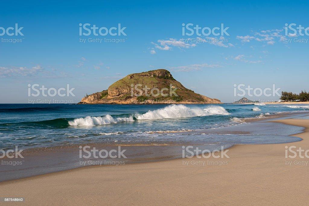Recreio Beach in Rio de Janeiro stock photo