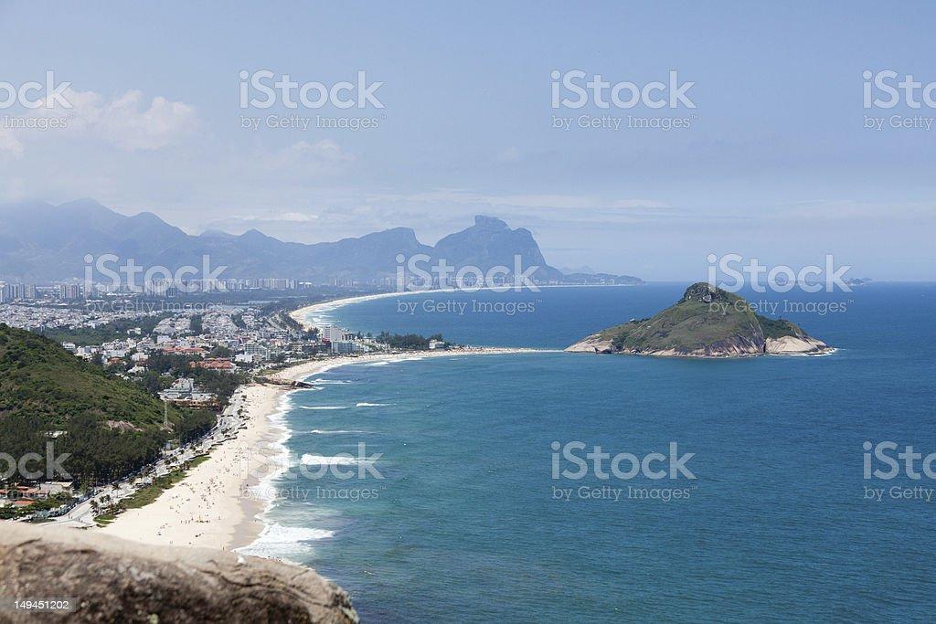 Recreio dos Bandeirantes Landscape royalty-free stock photo