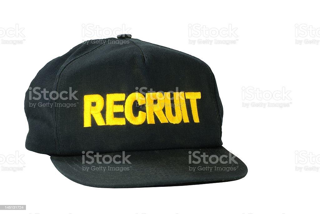 Recruit Ballcap royalty-free stock photo