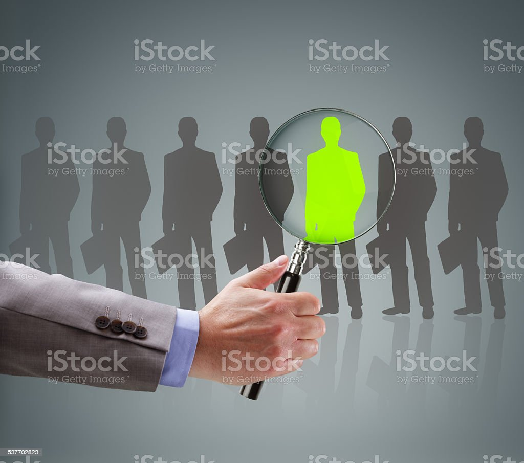 Recruitment choosing the right people stock photo