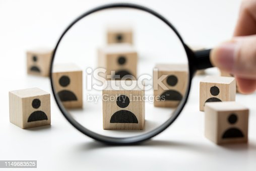 istock Recruitment concept searching for employee 1149683525