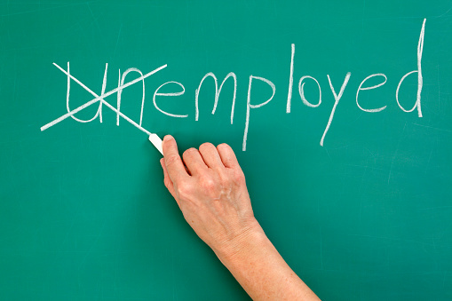 Recruitment Or Employment Issues Chalk Drawing Stock Photo - Download Image Now