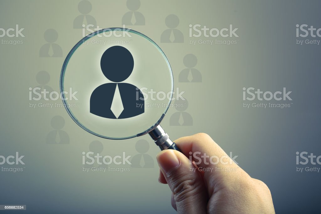 Recruitment Or Selection Concept stock photo