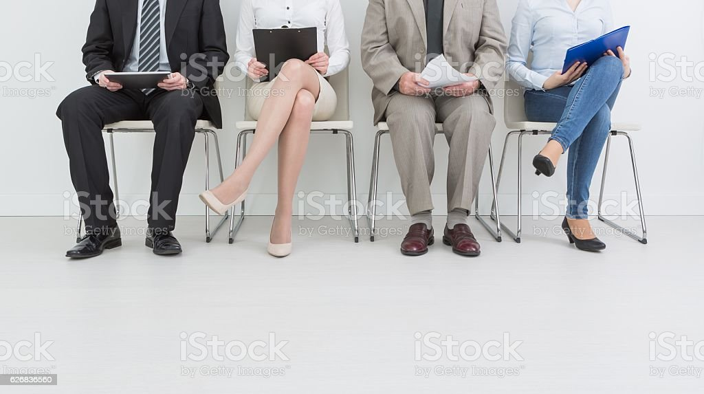 Recruitment recruiting recruit hiring hire - concepts. stock photo