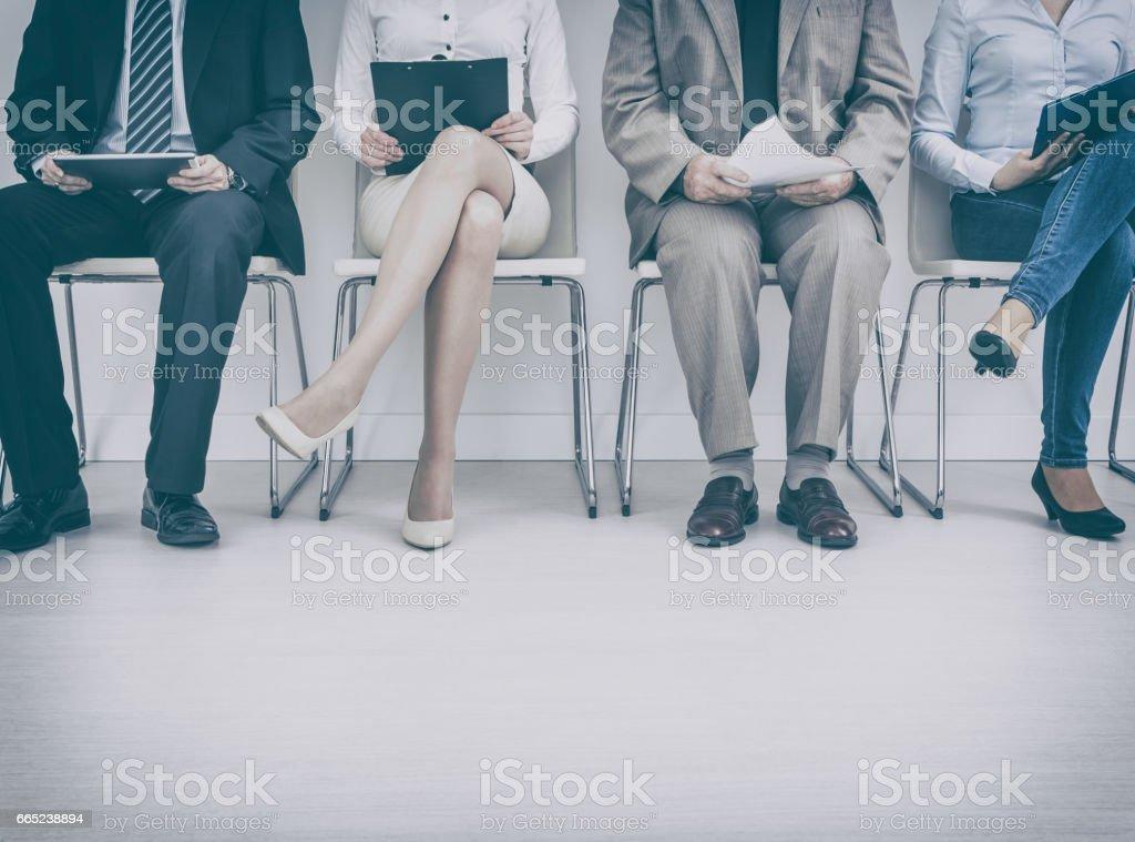 Recruitment recruiting recruit hiring hire - concepts. stock photo