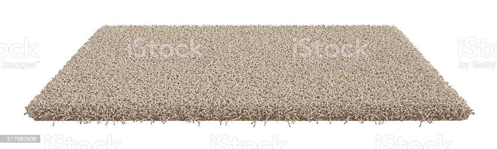 Rectangle carpet isolated on white background stock photo