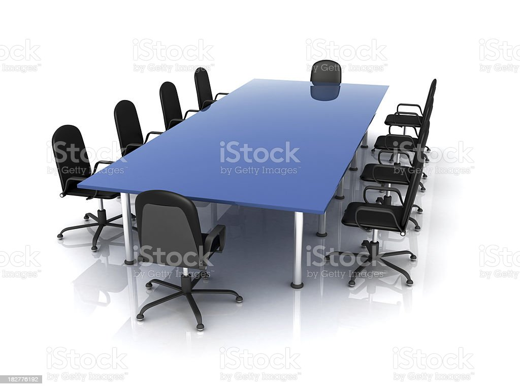 Rectangle Conference Table royalty-free stock photo
