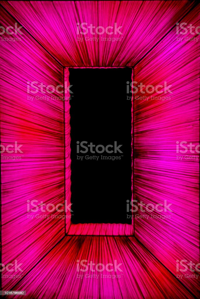 A Rectangle Covered in Cloth with Lighting stock photo