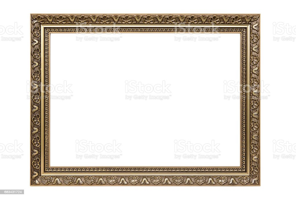 Rectangle decorative picture frame stock photo