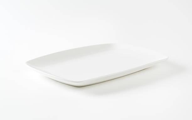 Rectangle assiette en porcelaine blanche - Photo