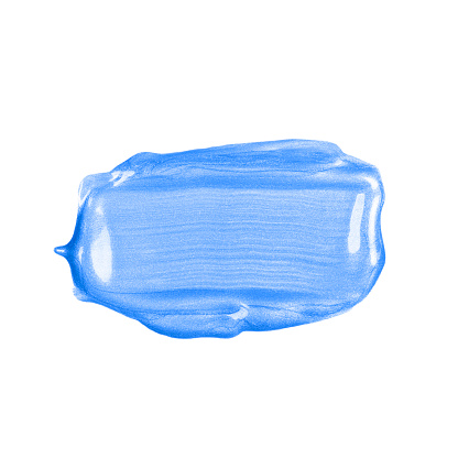 1202746861 istock photo Rectangular blue glossy brush stroke or smear cut out on white background. 1213515818
