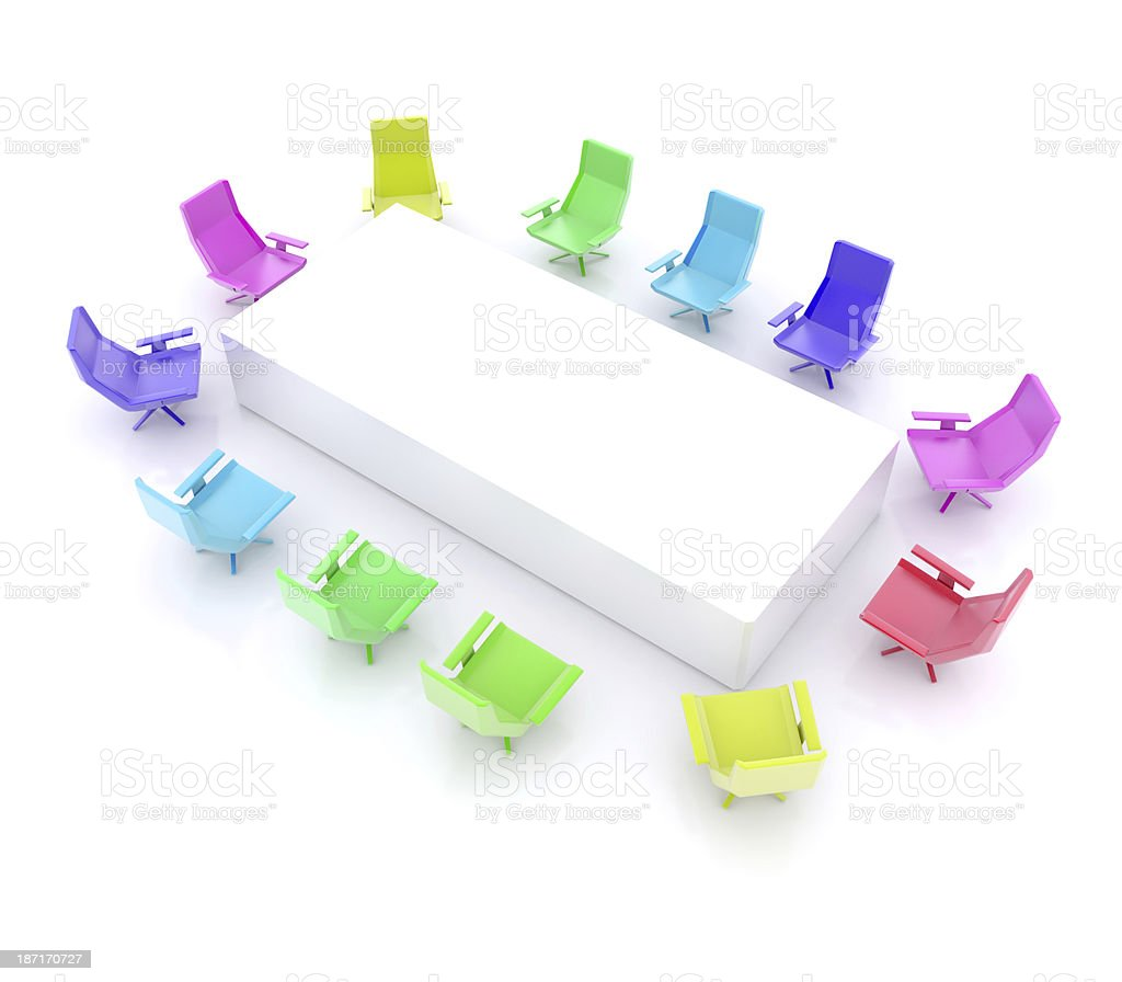 Rectangular Board Room royalty-free stock photo