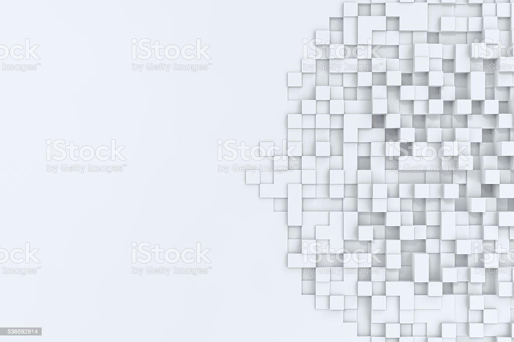 Cubos abstrato retangular bacgkround. 3 d ilustração - foto de acervo