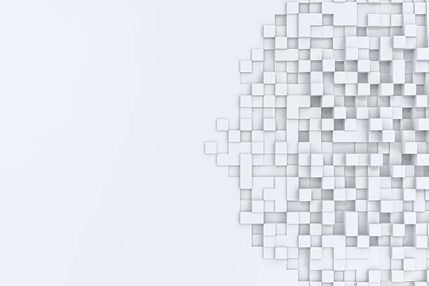 Rectangular cubos abstract bacgkround. Ilustración en 3D - foto de stock