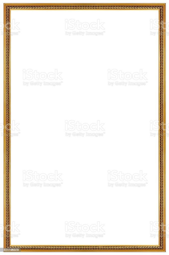 Rectangular Gilded Frame stock photo
