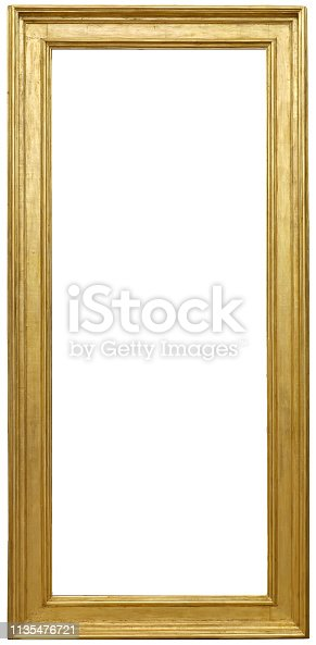 Isolated golden frame