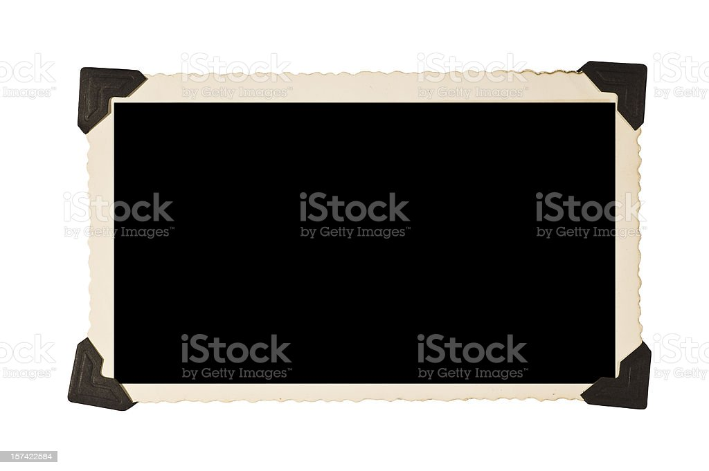 Rectangular Old Picture Frame With Corners royalty-free stock photo