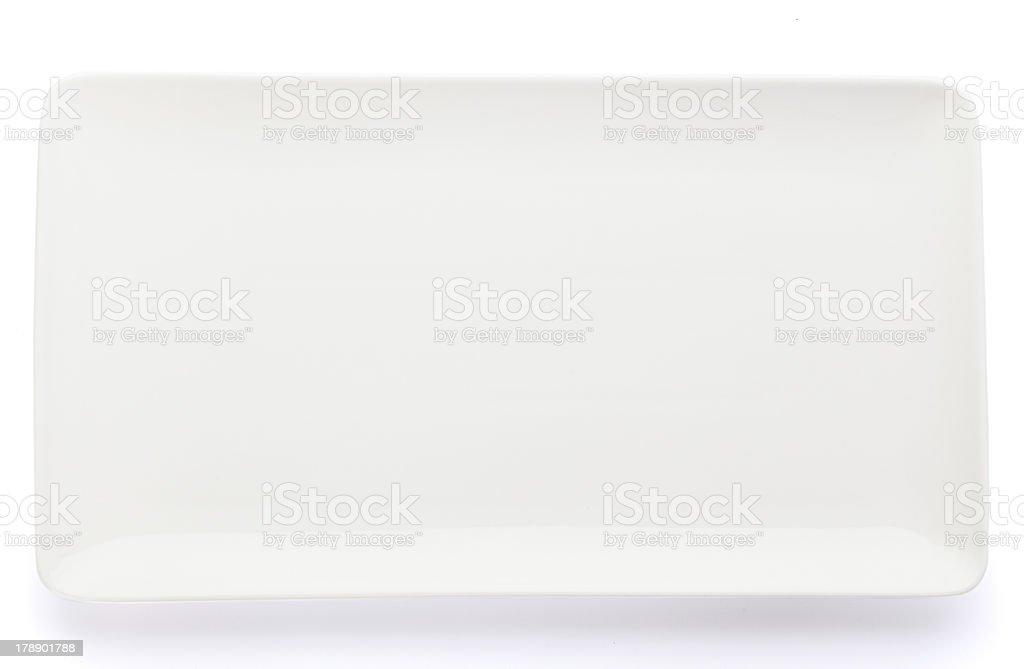 Rectangular Plate stock photo