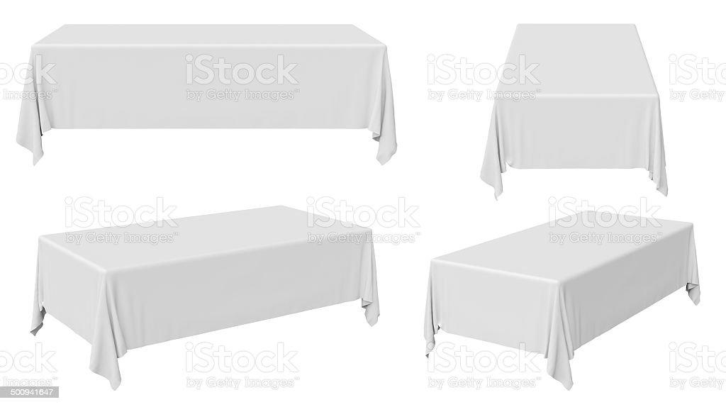 Rectangular tablecloth set stock photo