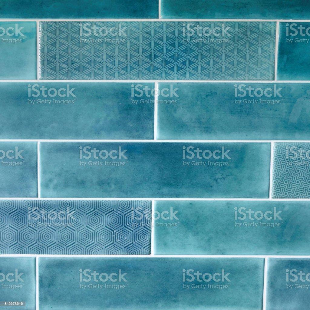 Rectangular Tile, blue background texture, stock photo