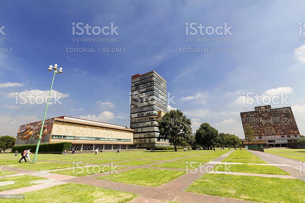 UNAM Rectorate Tower stock photo