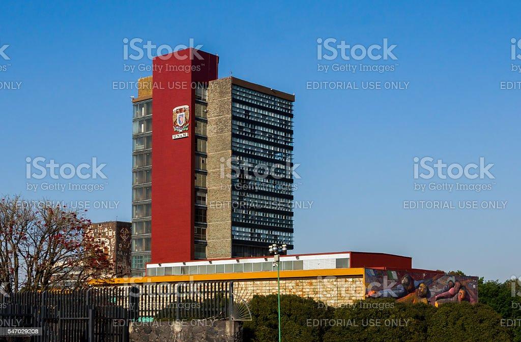 Rectoria Building UNAM (Universidad Nacional Autonoma de Mexico) stock photo