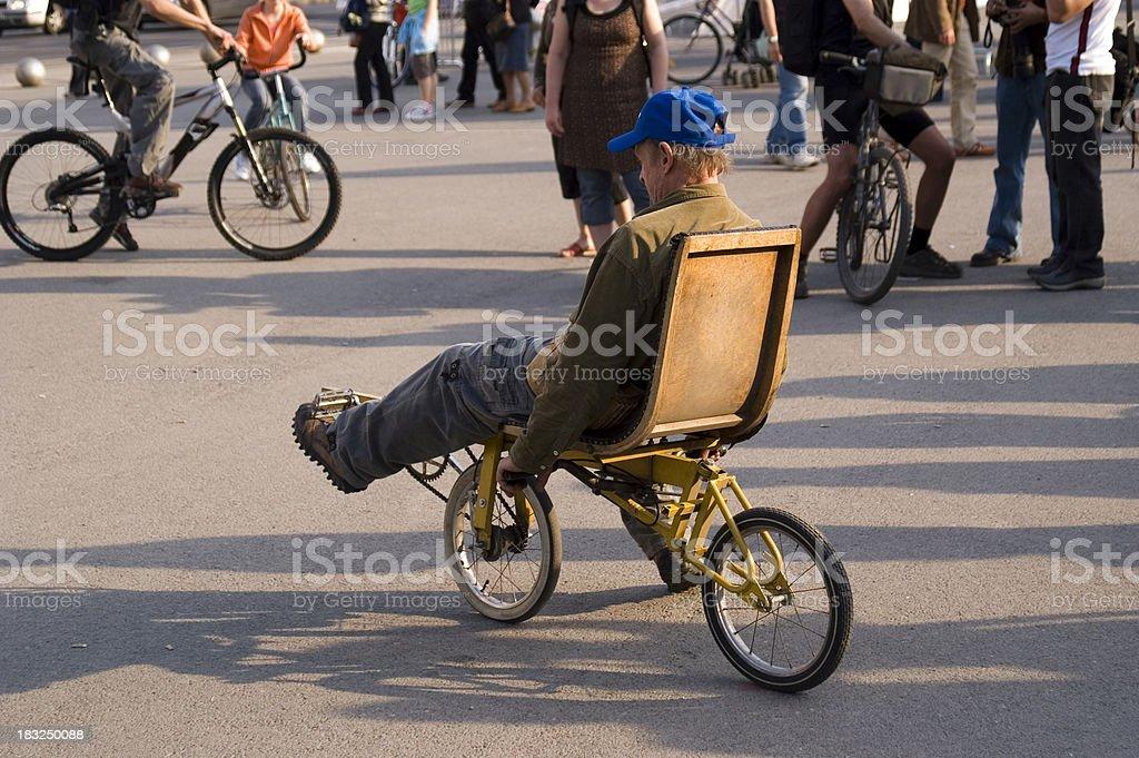 Recumbent bike royalty-free stock photo