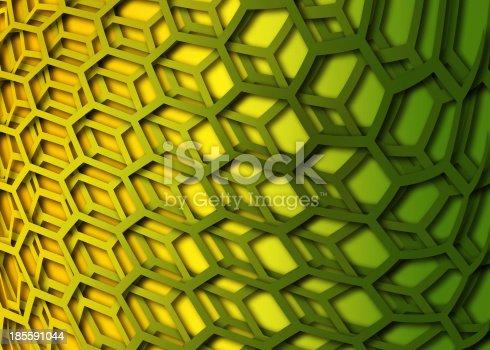 1176496357 istock photo recurrent curved hexagonal wallpaper, background. 185591044