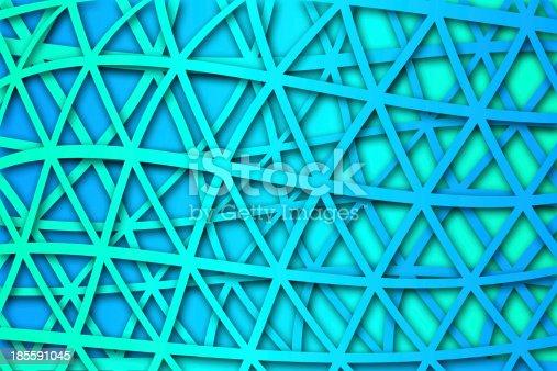 1176496357 istock photo recurrent curved triangular pattern, wallpaper, background. 185591045