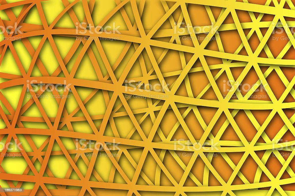 recurrent curved triangular pattern, wallpaper, background. royalty-free stock photo